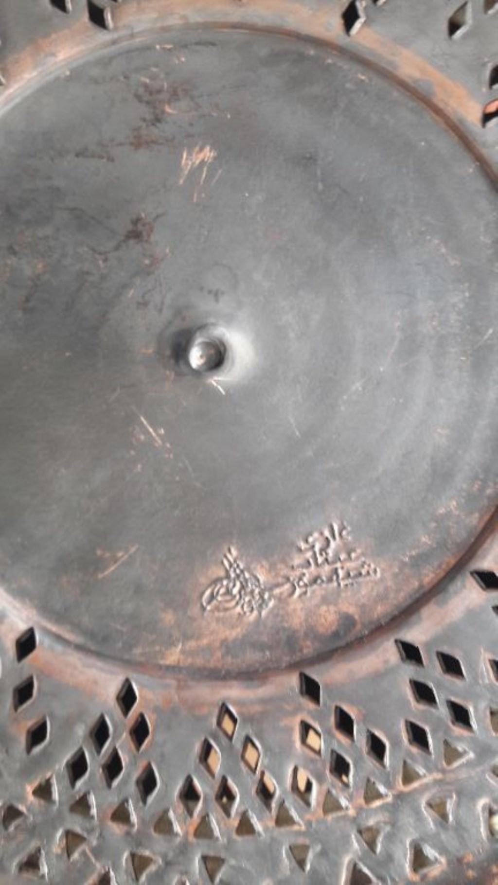 Orijinal körüklü, Süleymaniye işi Osmanlı gece feneri resmi