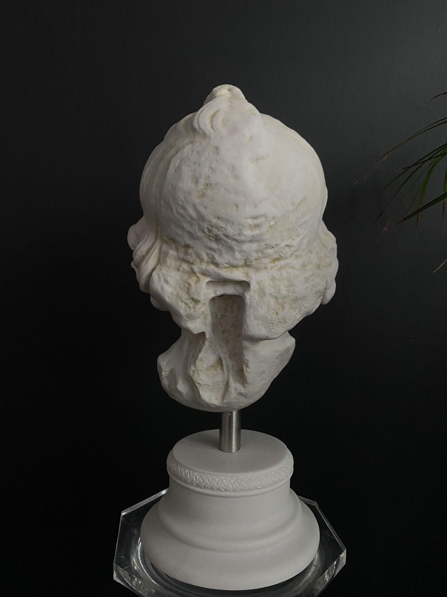 Mermer tozu sikistirma bust heykel no:16 resmi