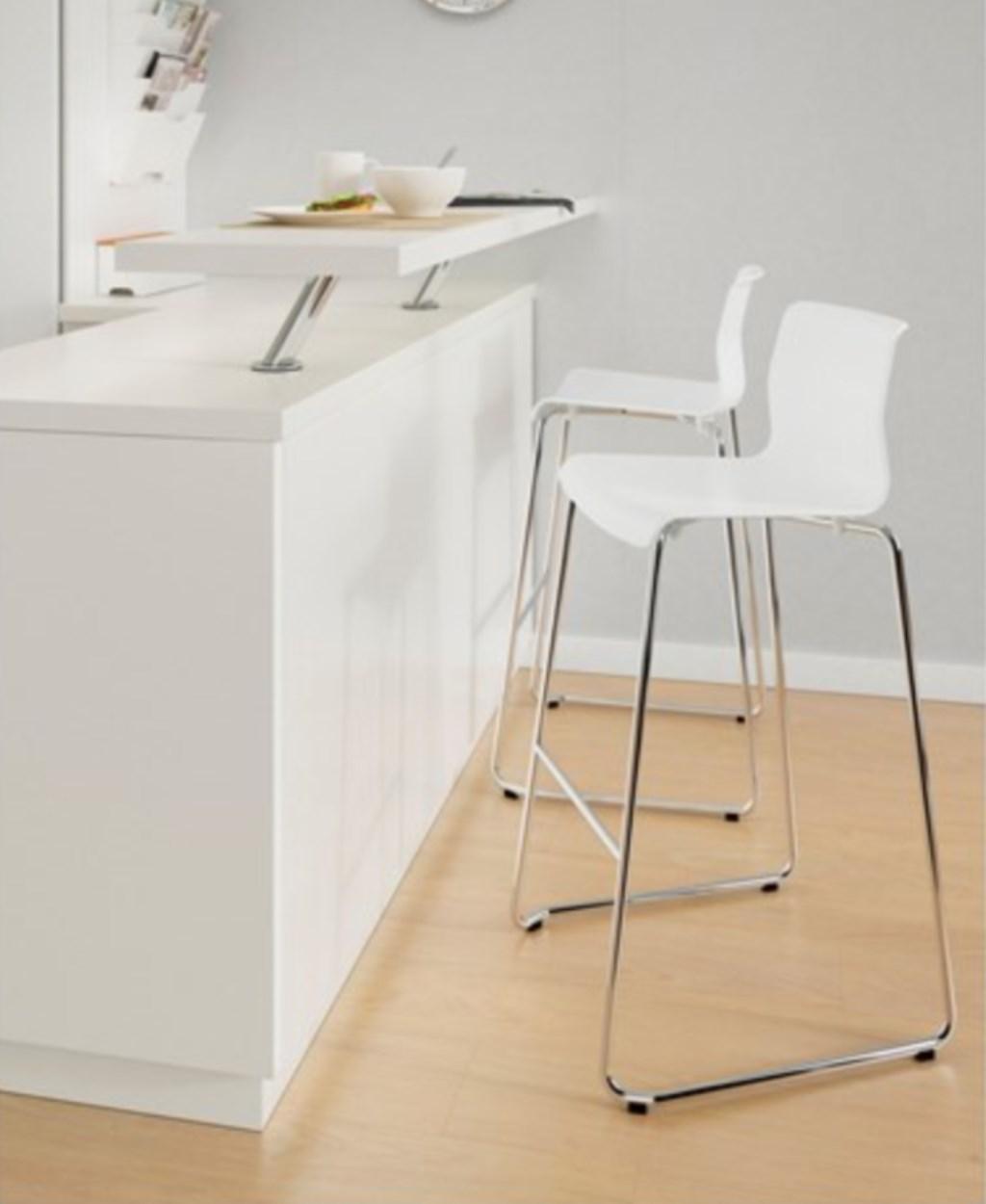 Beyaz Ikea Ikea Glenn Bar Taburesi Yeni Gibi Tabure