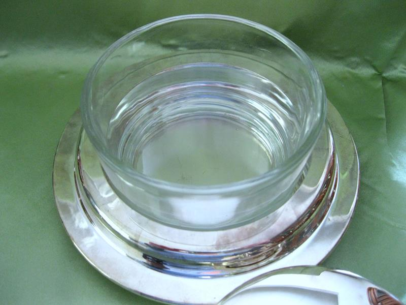Vintage gümüş kaplama sunumluk resmi