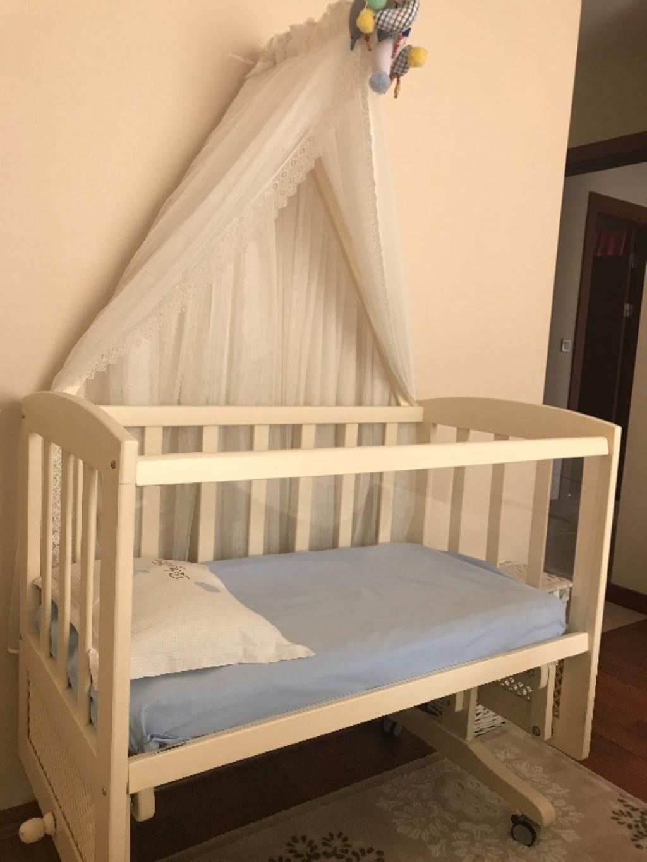 Çiziksiz Bebek Beşik ve Yatak seti resmi