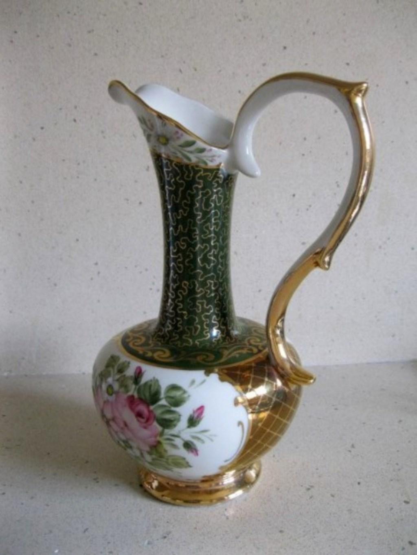 Vintage El Boyaması Dekoratif Porselen İbrik resmi