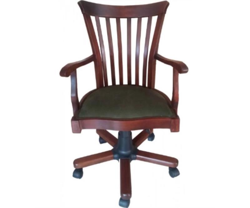 Ahşap şerif dönerli sandalye  resmi