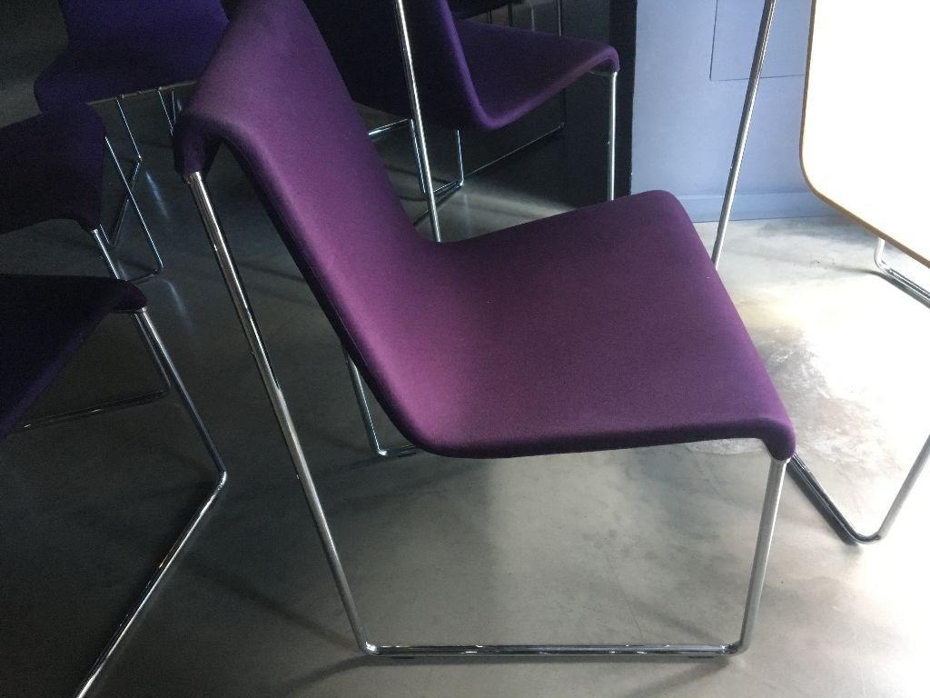 Mor renk takım sandalye 4 adet  resmi