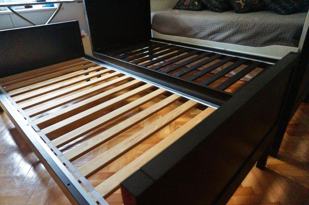 2 adet IKEA NORDDAL Karyola/Ranza resmi