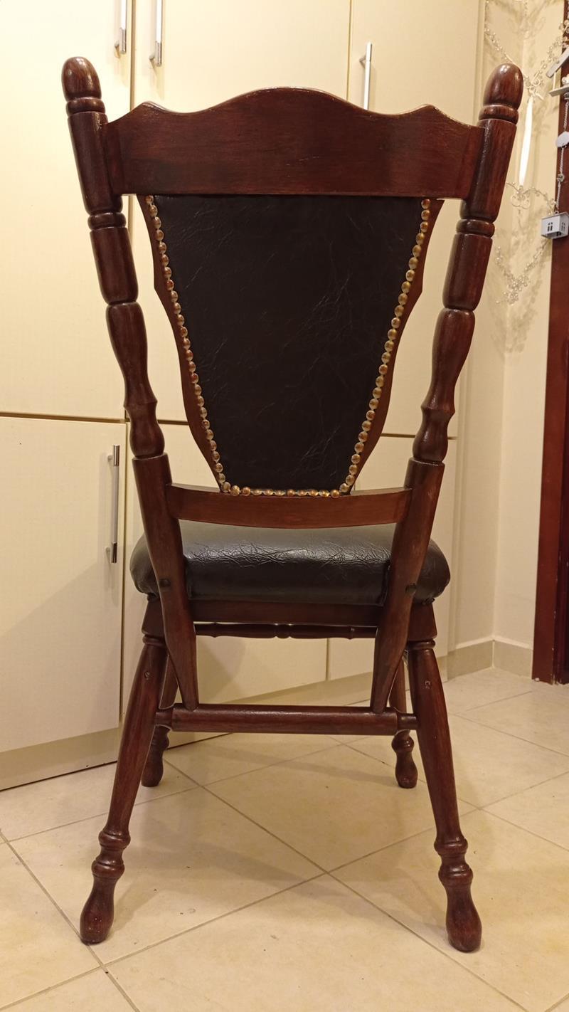 1950 ler cilalı antika ingiliz ceviz çalışma masası sandalyesi resmi
