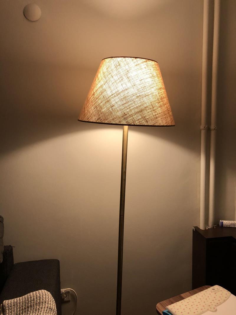 Hasır kumaşlı şık lambader resmi