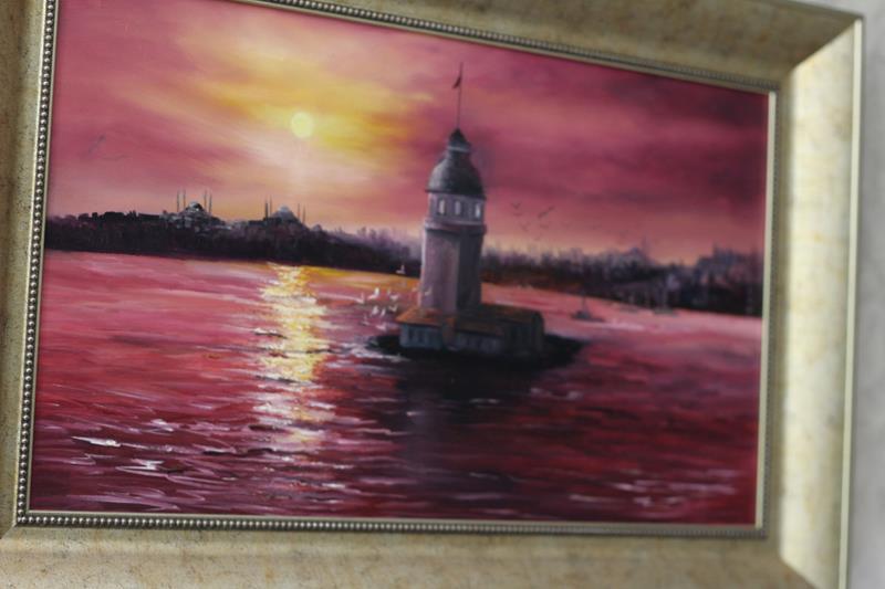 Kız kulesi tablo resmi