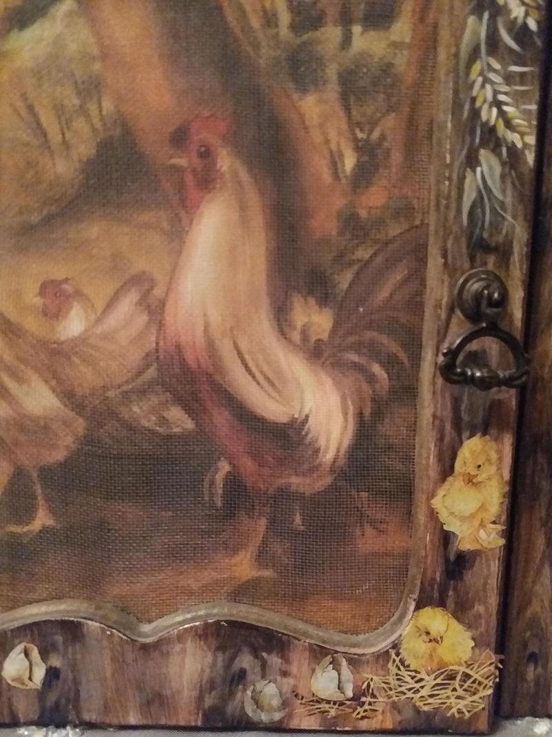 El boyama usta işi anahtarlık veya dekorluk dolap resmi