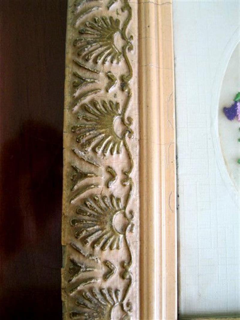 El yapımı antika çerçeve antika el işi tablo resmi