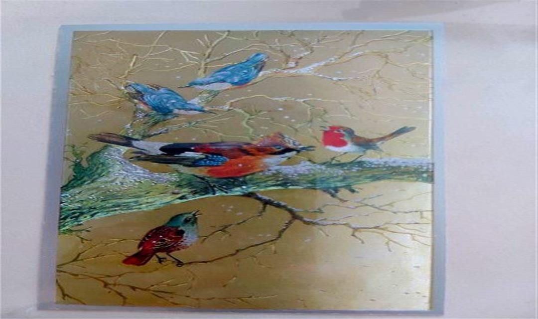 Vintage Dalda Kuşlar Temalı Tablo resmi