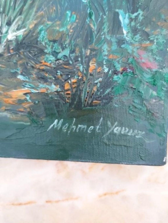 Sanatçı İmzalı Müzayededen Alınma Yağlı Boya Tablo  resmi