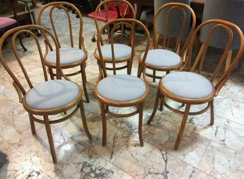 6 adet fiyatıdır orjinal eski thonet sandalyeler  resmi