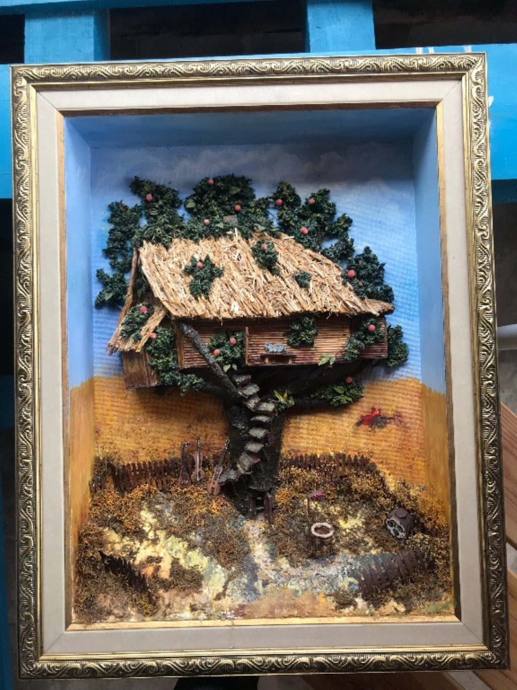 3D MIXED MEDIA Tablo ( YAĞLI BOYA 55X70 CM )