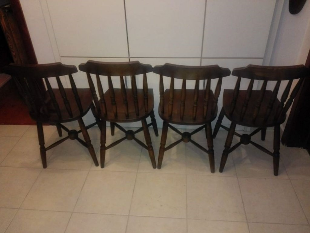 Antika 4 lu Torna Cilalı Şirin Thonet Sandalyeler resmi