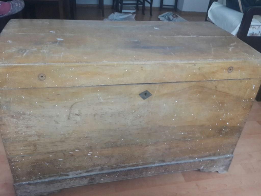Kahverengi Diğer Eski Ceviz Sandık Eskice Konsol Dresuar Satıcı